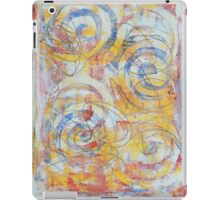Hand rinted spiral and swirls, abstract, multicolour iPad Case/Skin