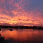 Leven River, Ulverstone, sunset by gaylene