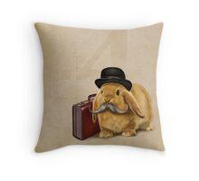 Commuter Bunny Throw Pillow