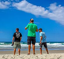 Boyz checking the beach by Listimages