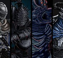 Dark Souls: Characters matted print by MenasLG