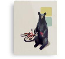 Summer Bear Metal Print