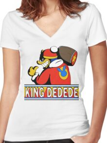 King Dedede Women's Fitted V-Neck T-Shirt