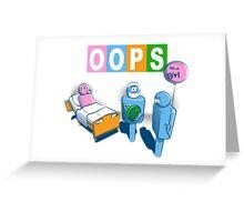 OOPS Greeting Card