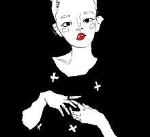 Floating figure; digital illustration by Julia Major