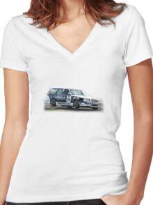 Volvo 850 Wagon Race Car TWR BTCC Women's Fitted V-Neck T-Shirt