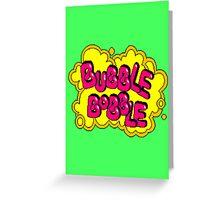 BubBob Arcade Greeting Card