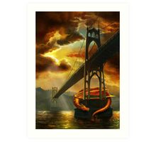 The Dragon of the St Johns Bridge Art Print