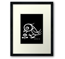 Bird - humor, fun, forest animals, flying Framed Print
