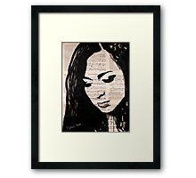 Love face Framed Print