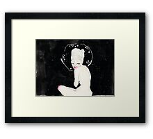 Space girl; illustration Framed Print