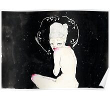 Space girl; illustration Poster