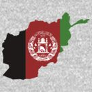 Afghanistan Flag Map by cadellin