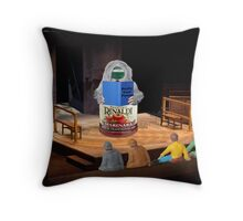The four friends always enjoyed listening to the rimes of the ancient marinara. Throw Pillow