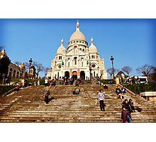 Steps to the Basilique du Sacre Coeur Photographic Print