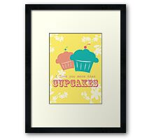 Cupcake Love is Real Framed Print