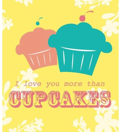 Cupcake Love is Real Sticker