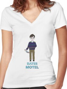 Norman Bates Women's Fitted V-Neck T-Shirt