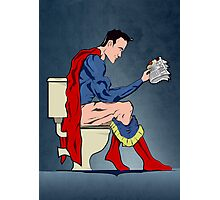 Superhero On Toilet Photographic Print