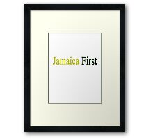 Jamaica First  Framed Print