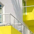 yellow balcony  by richard  webb