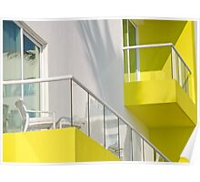 yellow balcony  Poster