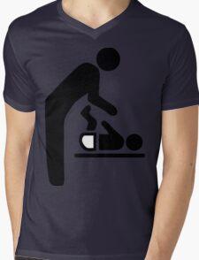 Baby Change Symbol Mens V-Neck T-Shirt