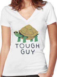tough guy Women's Fitted V-Neck T-Shirt