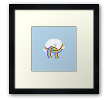 Mr Clouds new scarf Framed Print