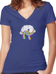Mr Clouds new scarf Women's Fitted V-Neck T-Shirt