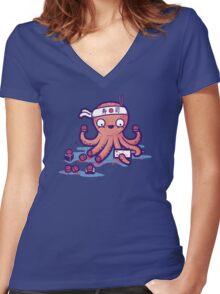 Octosushi Women's Fitted V-Neck T-Shirt