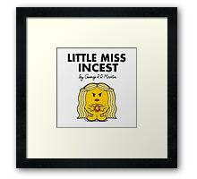 Little Miss Incest Framed Print