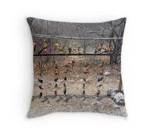 Birds on a String Throw Pillow