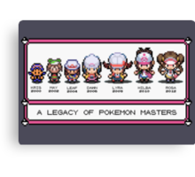 Pokemon Trainers Through the Ages Canvas Print