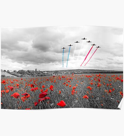 Red Arrows Tribute Selective Poster