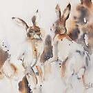 Mad March Hares by Bev  Wells