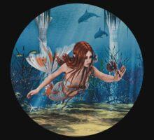Mermaid holding Sea Lily T-Shirt