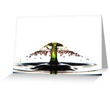 Fluidart water drop images Greeting Card
