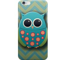 Cute Blue and Green Owl iPhone Case/Skin