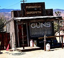 GUNS, GUNSMITH PIONEER TOWN, CALIFORNIA by JAYMILO