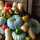 Pumpkins and peppers by Antionette
