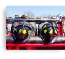 Fire Helmet and Boots Canvas Print