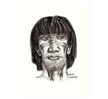 Prehistoric Native Art Print