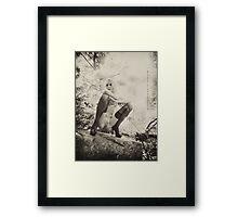 Jessica Squatting Framed Print