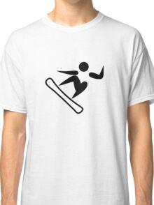 Snowboarding Pictograph  Classic T-Shirt