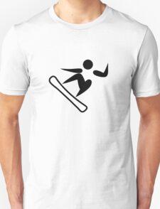 Snowboarding Pictograph  Unisex T-Shirt