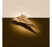 Paper Airplanes of Wood 3 Photographic Print