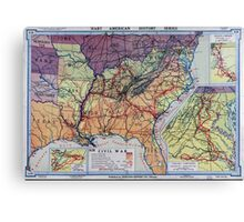 Civil War Maps 1960 Hart-Bolton American history maps Canvas Print