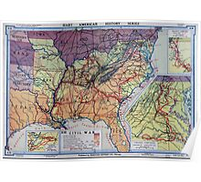 Civil War Maps 1960 Hart-Bolton American history maps Poster