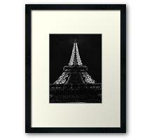 Eiffel Tower Starkly Framed Print